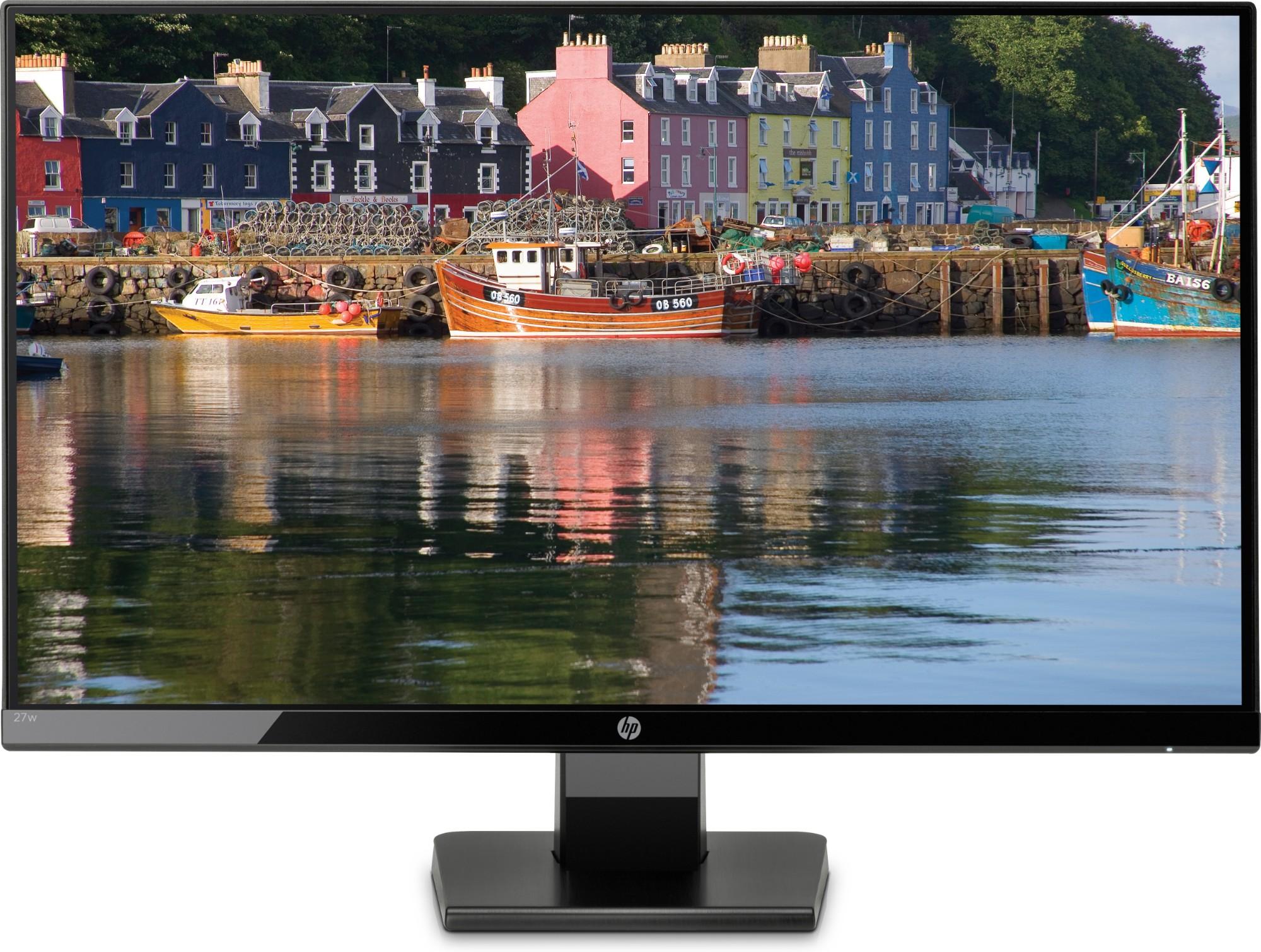 "HP 27w LED display 68.6 cm (27"") 1920 x 1080 pixels Full HD Flat Black"