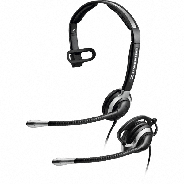 Sennheiser CC 530 Monaural Ear-hook,Head-band Black,Grey headset