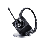 Sennheiser DW Pro2 mobile headset Binaural Black Wireless