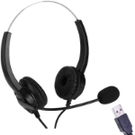 EDIS EC134 headphones/headset Head-band Black USB Type-A
