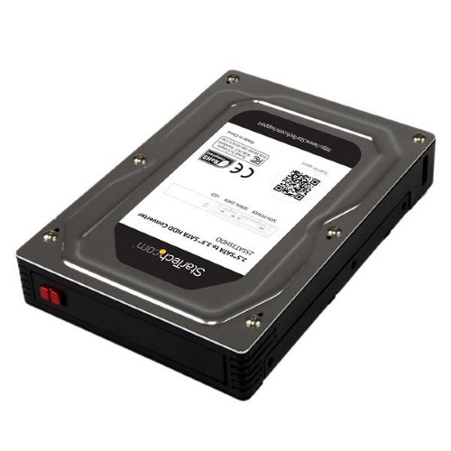 """StarTech.com 2.5"""" to 3.5"""" SATA Aluminum Hard Drive Adapter Enclosure with SSD / HDD Height up to 12.5mm"""
