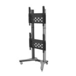 "PMV PMVTROLLEYXLAB flat panel floorstand 190.5 cm (75"") Portable flat panel floor stand Black,Grey"