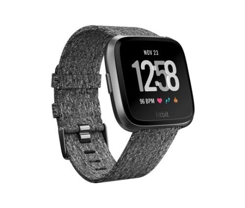 "Fitbit Versa - Special Edition smartwatch LCD 3.4 cm (1.34"") Graphite GPS (satellite)"