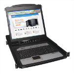Tripp Lite NetDirector 8-Port 1U Rack-Mount Console KVM Switch with 19-in. LCD and IP Remote Access