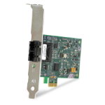 Allied Telesis 100FX Desktop PCI-e Fiber Network Adapter Card w/PCI Express, (SC) 100 Mbit/s