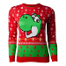 Nintendo Super Mario Bros. Yoshi Christmas Knitted Sweater, Female, Large, Red/Green (SW557072NTN-L)