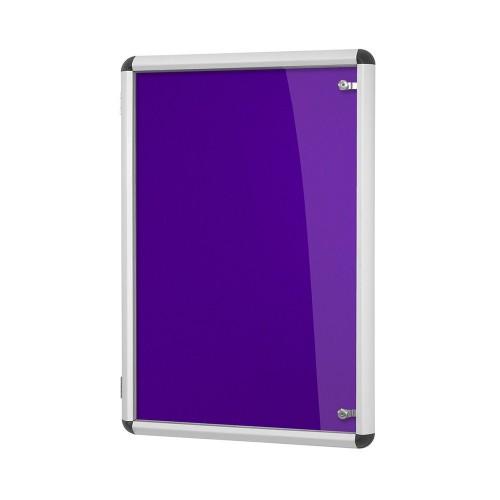 Metroplan Shield Design insert notice board Indoor Aluminium, Purple Aluminium