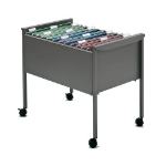 Rexel Mobile Filing Trolley Titanium Grey