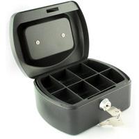Q-Connect 6in Black Cash Box
