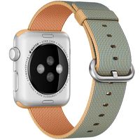 Apple 42mm Woven Nylon Band - Watch strap - gold/royal blue - for Watch (42 mm)