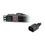 LMS 1U 12-Way IEC-13 Sockets Horizontal PDU with 10A IEC-14 Plug, Black (PDU-12WS-H-IEC-IEC)