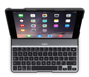 Belkin F5L190eaBLK QWERTY UK English Black mobile device keyboard