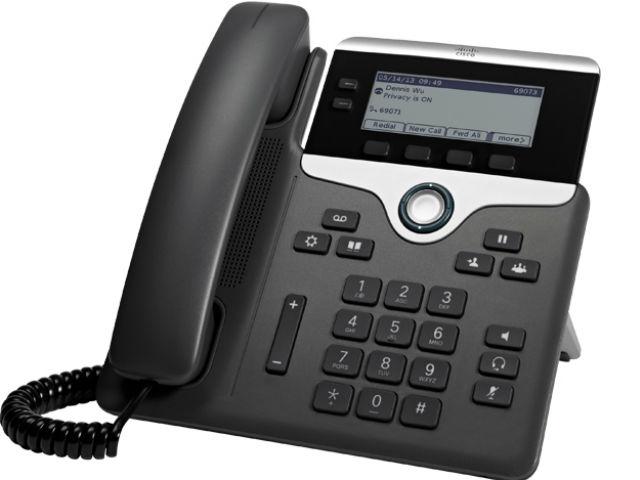 Cisco 7811 1lines LED Wired handset Black, Silver
