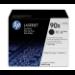 HP Pack de ahorro de 2 cartuchos de tóner original LaserJet 90X de alta capacidad negro