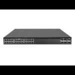Hewlett Packard Enterprise FlexFabric 5710 24XGT 6QSFP+/2QSFP28 Managed L3 10G Ethernet (100/1000/10000) Black 1U