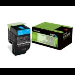 Lexmark 80C20C0 (802C) Toner cyan, 1000 pages