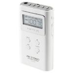 Sangean DT-120 Personal Digital White Clock/Portable Radio