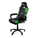 Arozzi Black & Green Enzo Adjustable Ergonomic Motorsports Inspired Desk Chair