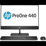 """HP ProOne 440 G4 60.5 cm (23.8"""") 1920 x 1080 pixels 8th gen Intel® Core™ i5 4 GB DDR4-SDRAM 500 GB HDD Windows 10 Pro All-in-One PC Black"""
