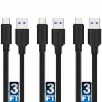 """Sabrent CB-C3X3 USB cable 35.4"""" (0.9 m) USB 3.2 Gen 1 (3.1 Gen 1) USB A USB C Black"""