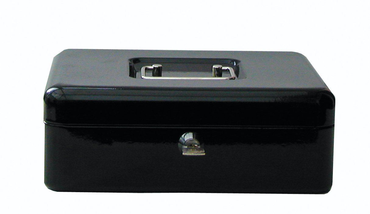 Cathedral Products Value 30cm (12 Inch) Key Lock Metal Cash Box Black