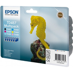 Epson C13T04874010 (T0487) Ink cartridge multi pack, 630pg + 5x430pg, 6x13ml, Pack qty 6
