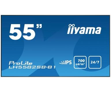 """iiyama LH5582SB-B1 138.7 cm (54.6"""") LED Full HD Digital Signage Flat back"""