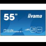 "iiyama LH5582SB-B1 signage display 138.7 cm (54.6"") LED Full HD Digital signage flat panel Black"