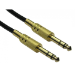 Cables Direct 4635-010GD audio cable 1 m 6.35mm Black,Gold