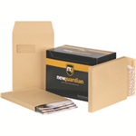 New Guardian Envelopes Peel and Seal Window Gusset 25mm 130gsm Manilla C4 [Pack 100]
