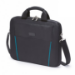 Dicota 15.6-Inch Top Loading Lockable Cushioned Notebook Briefcase - Black/Blue  - (D30997)