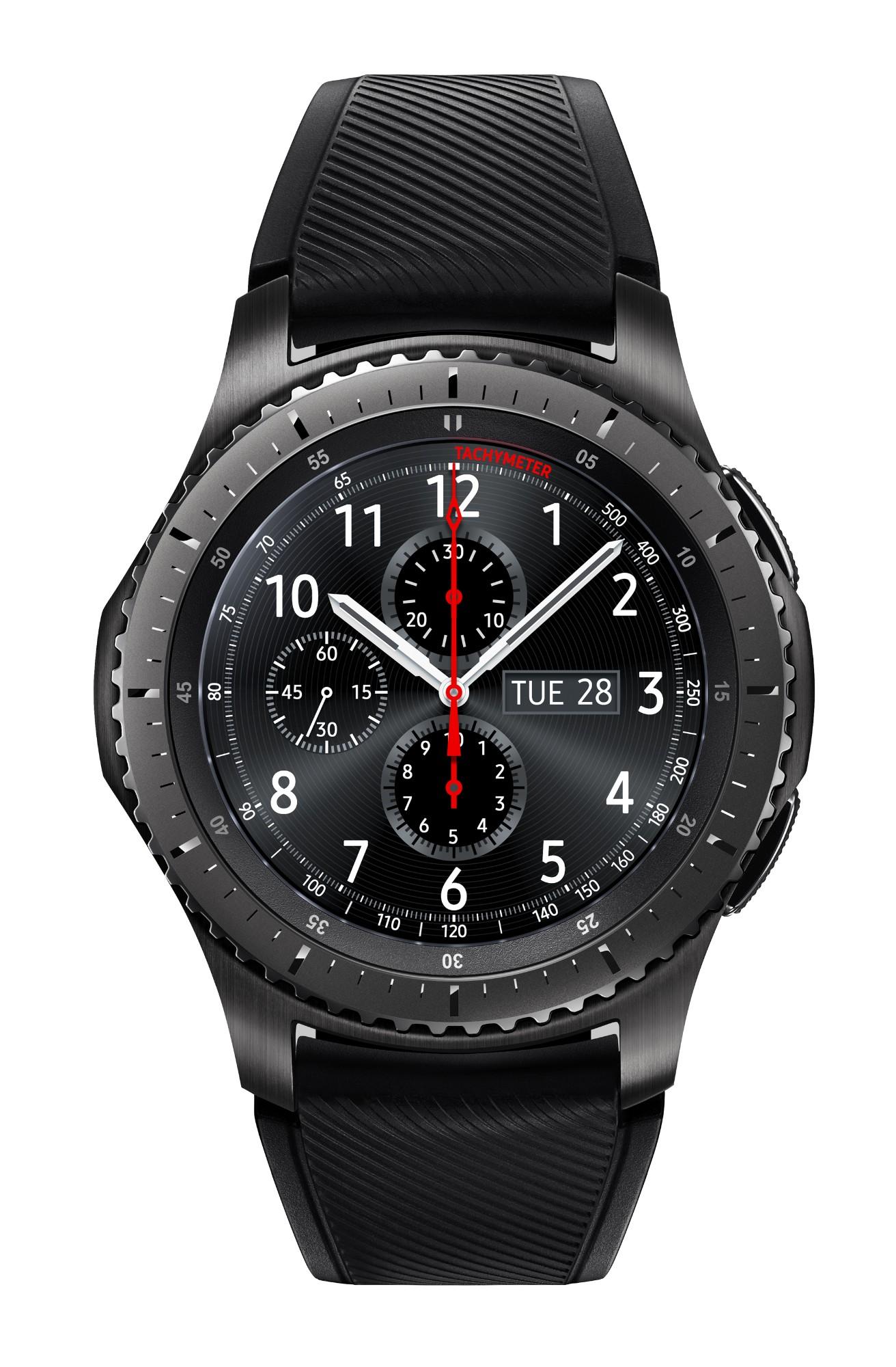 """Samsung Gear S3 Frontier smartwatch Black SAMOLED 3.3 cm (1.3"""") GPS (satellite)"""