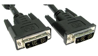 Cables Direct 2m DVI-D m/m DVI cable Black