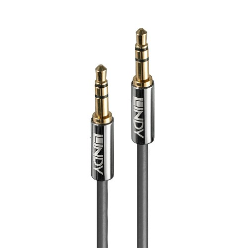 Lindy 35320 audio cable 0.5 m 3.5mm Anthracite