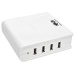 Tripp Lite 4-Port USB Charging Station, 5V 6A/30W USB Charger Output, UK Version