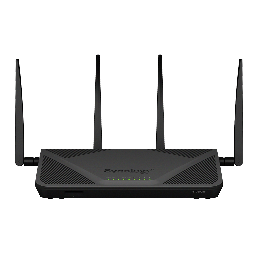 Synology RT2600AC draadloze router Dual-band (2.4 GHz / 5 GHz) Gigabit Ethernet Zwart
