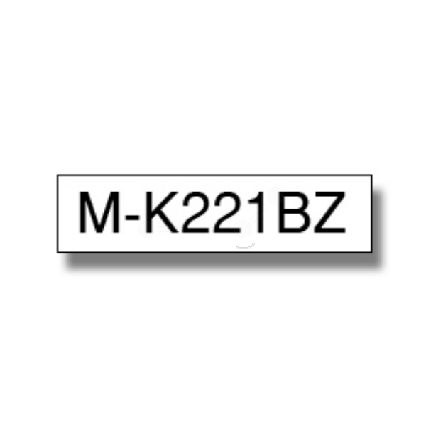 Brother MK-221BZ P-Touch Ribbon, 9mm x 8m