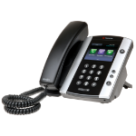 Polycom VVX 500 Wired handset 12lines LCD Black,Silver IP phone