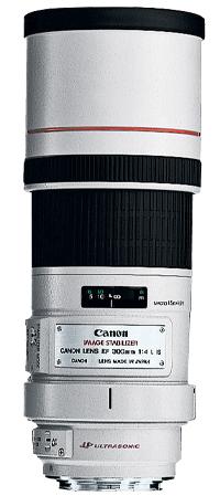 Canon EF 300mm f/4L IS USM SLR Telephoto lens White
