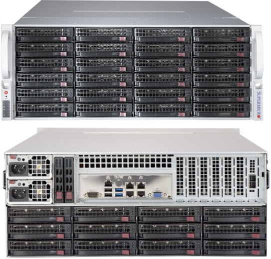 Supermicro 847BE2C-R1K28LPB Rack Black 1280 W