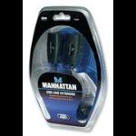 Manhattan 179300 USB A / RJ45 USB A / RJ45 Black cable interface/gender adapter