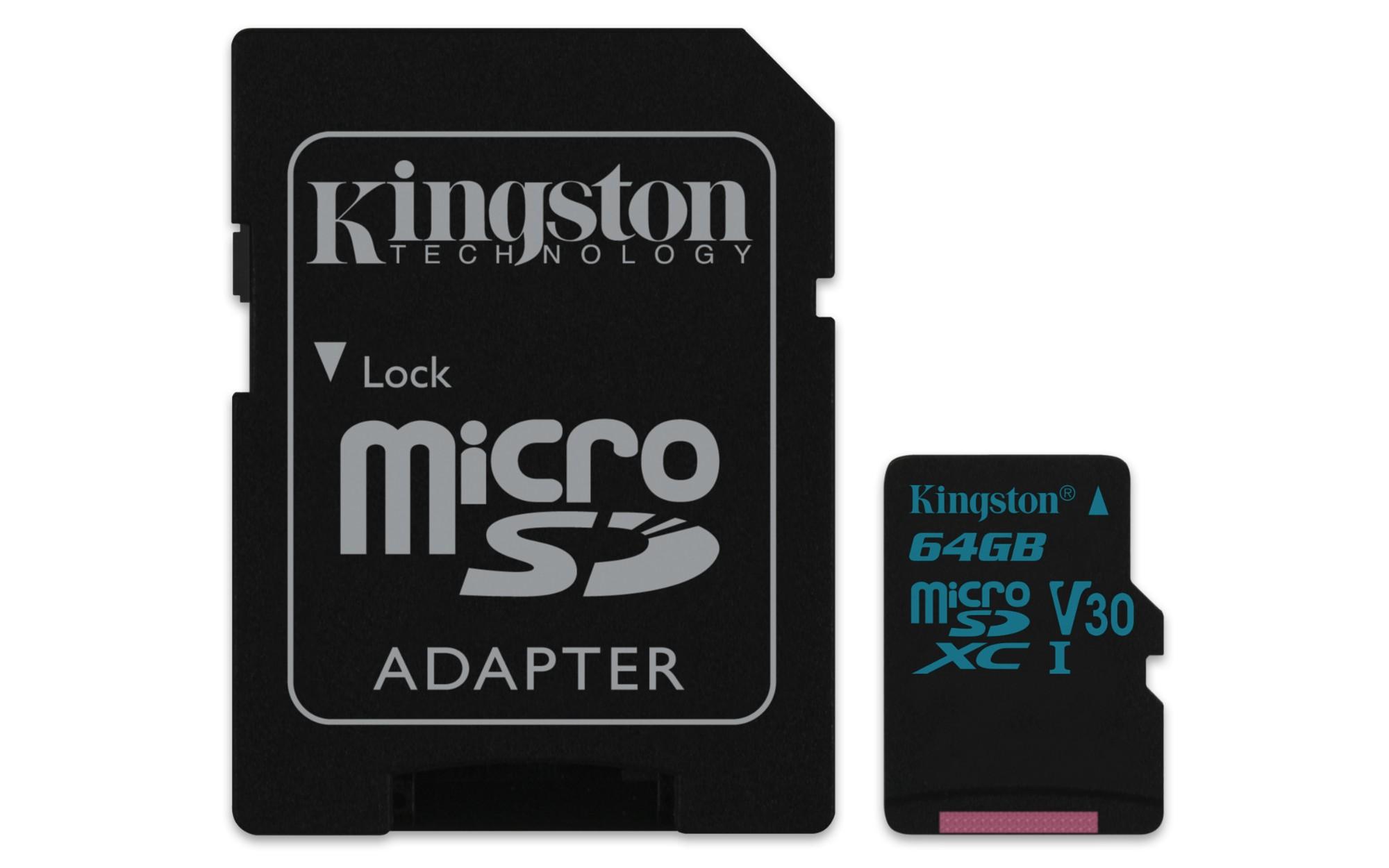 Kingston Technology Canvas Go! memory card 64 GB MicroSDXC Class 10 UHS-I