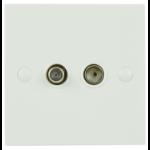 AV Link 123.307UK wall plate/switch cover White