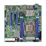 ASROCK_RACK Asrock Rack EPC612D4U Server Board, Intel C612, 2011, Micro ATX, Dual GB LAN, IPMI LAN, Serial Port