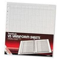 Twinlock V5 Variform 10 Column Cash Sheets (Pack 75) 75982
