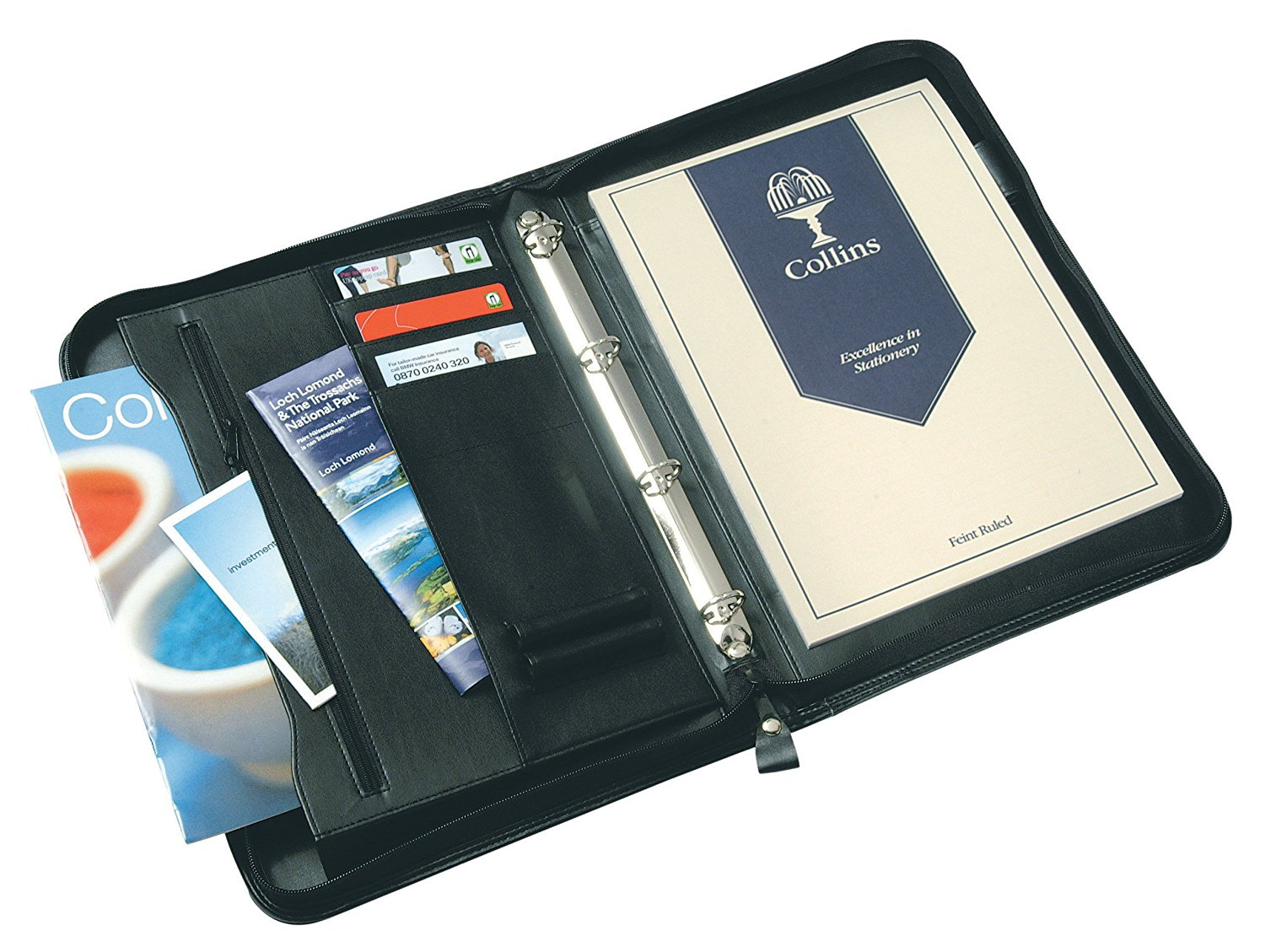 Collins Conference Ring Binder Zipped 25mm Gusset 7017
