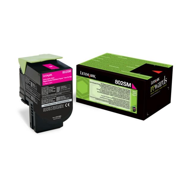 Lexmark 80C2SM0 (802SM) Toner magenta, 2K pages