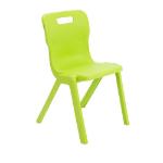 Titan Furniture One Piece Chair Hard seat Hard backrest Green Polypropylene