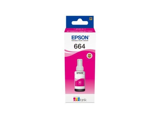 Epson C13T664340 (664) Ink bottle magenta, 6.5K pages, 70ml