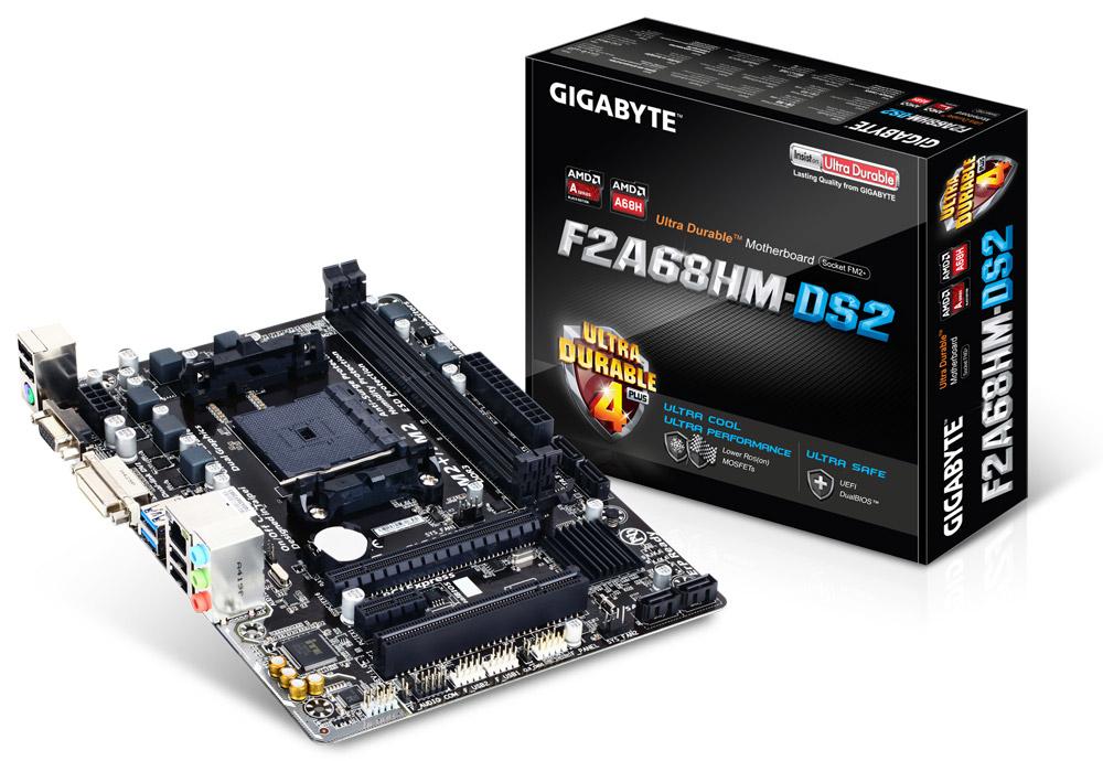 Gigabyte GA-F2A68HM-DS2 AMD A68H Socket FM2+ Micro ATX motherboard
